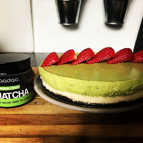 Matcha Oreo Cheesecake - No Bake Cheesecake
