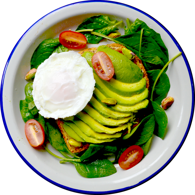 Avocado Miso Poached Eggs