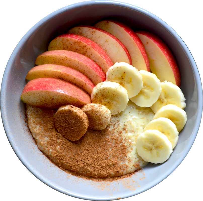 Apple Cinnamon Coconut Porridge (Vegan Breakfast)