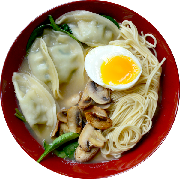 Chicken Gyoza Ramen 拉麵 (Soup Noodle)