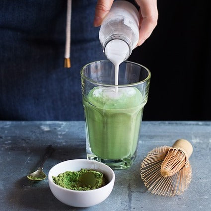 Iced Matcha & Almond Drink