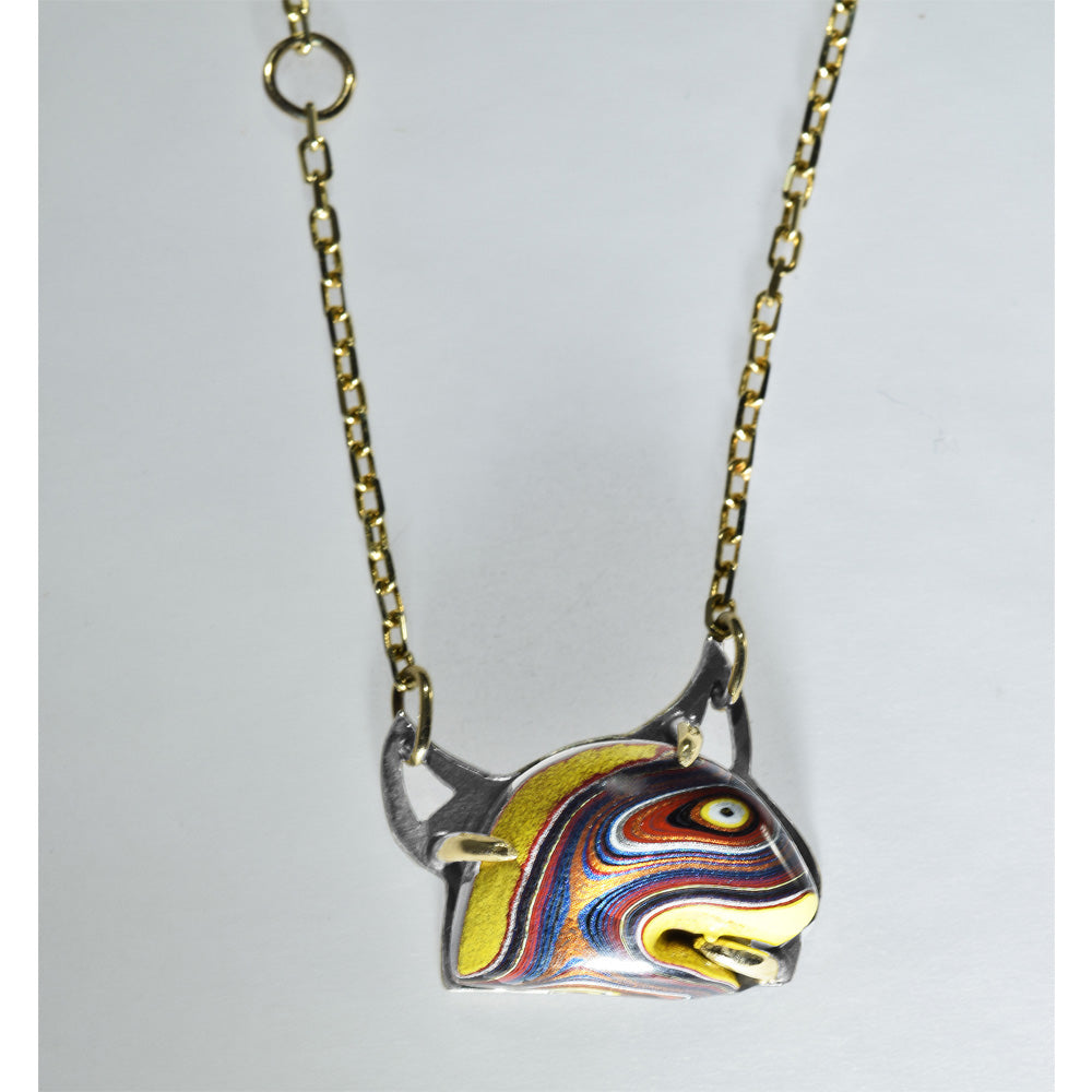 Gold Yellow Fordite Earrings