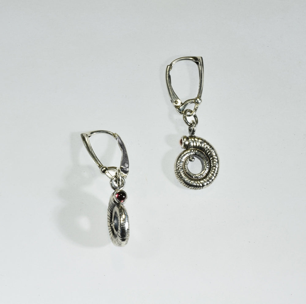 Large Spiral Ammonite Earrings