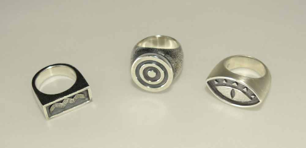 HEAVY METAL LARGE BULLSEYE RING