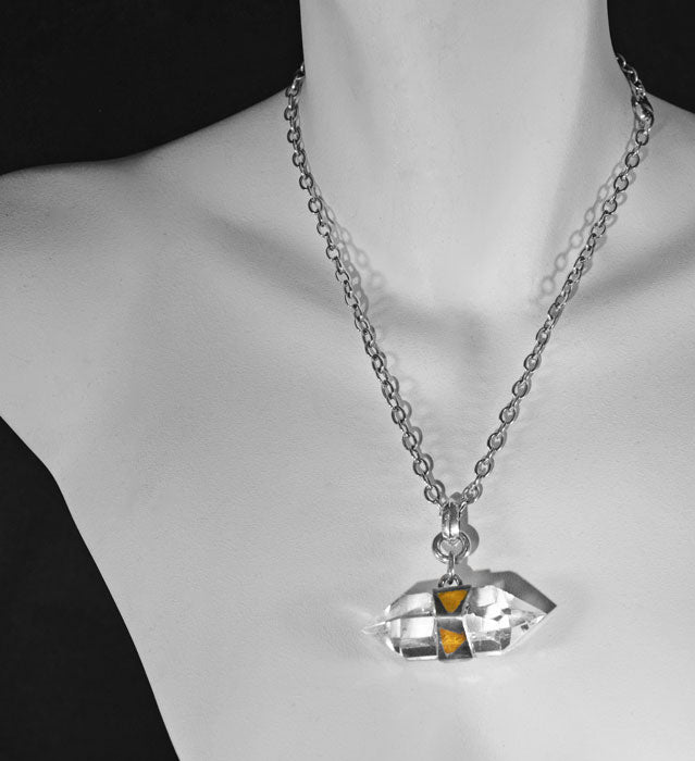 Double Terminated Crystal Keum-boo Necklace
