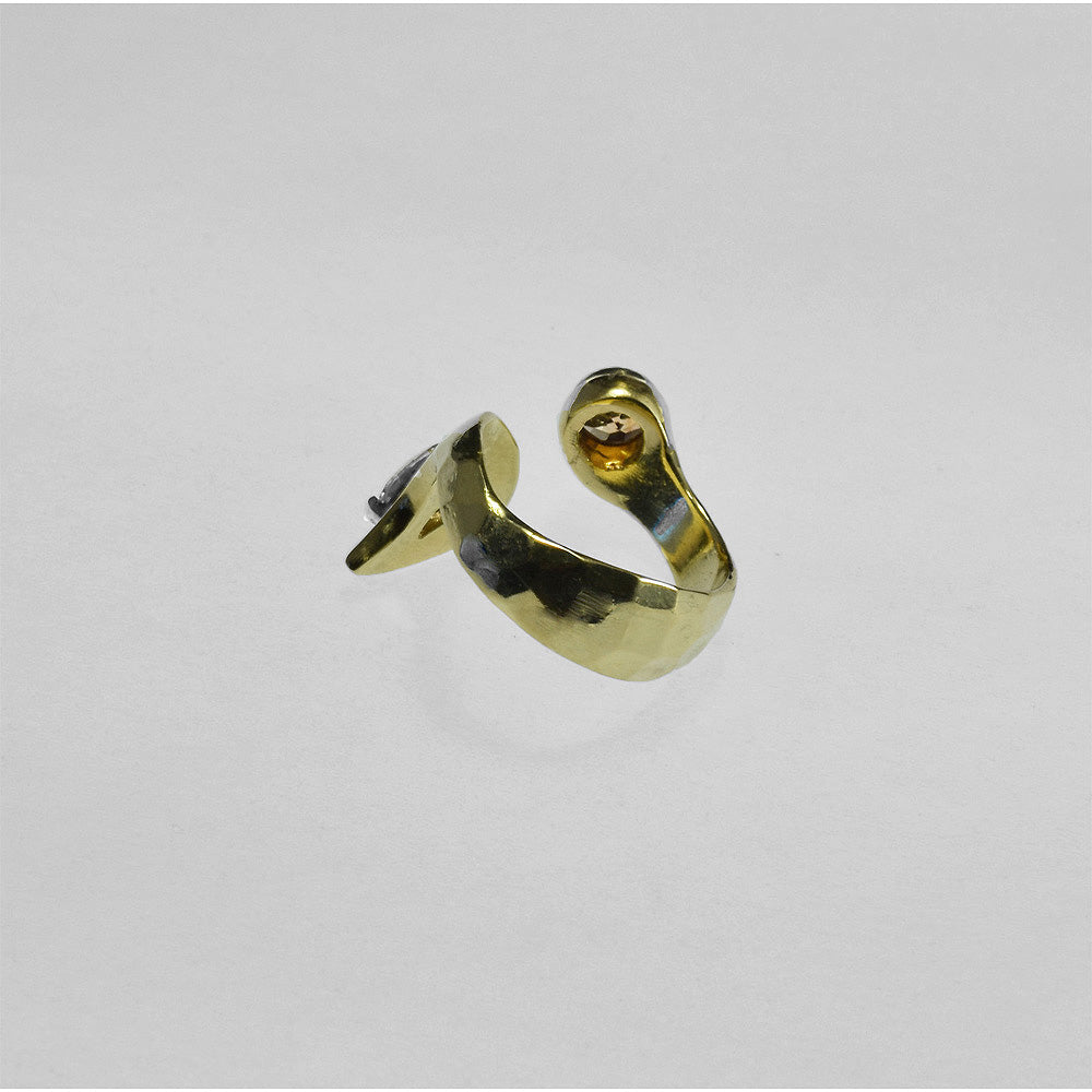 18ky Gold Swirl Ring