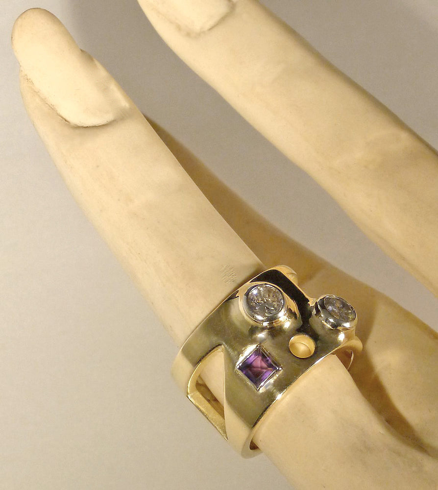 Commission: DIAMOND MONDRIAN RING
