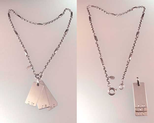Commission: DOG TAG NECKLACE