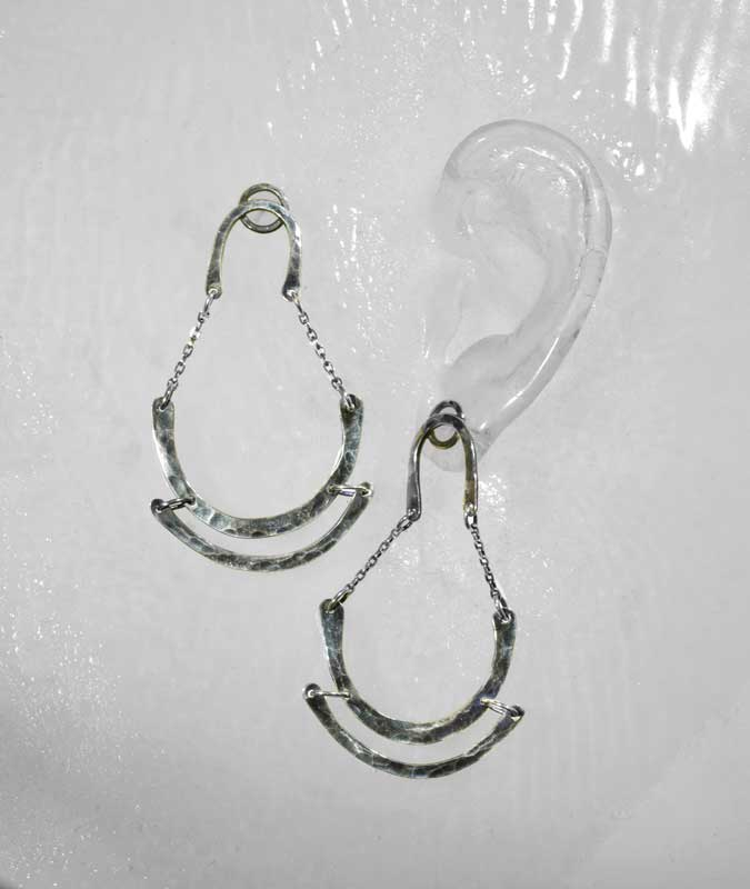 Hammered Horseshow Statement Earrings