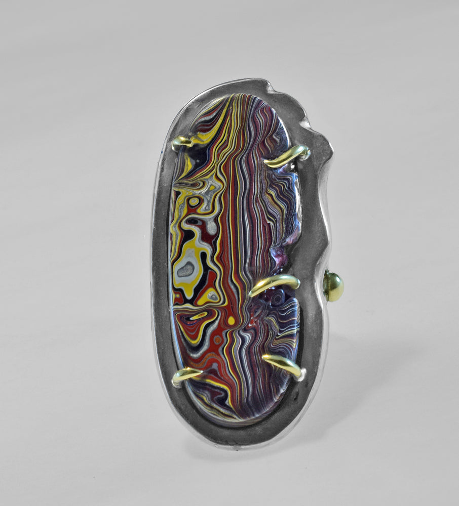 X-Large Oval Fordite Ring