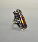 Rectangular Fordite Ring