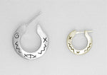 PIRATE HOOP EARRINGS - SYMBOLS
