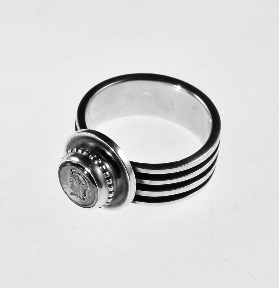 Hematite Warrior Intaglio Ring