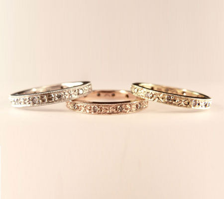 VICTORIAN NARROW BANDS - GOLD