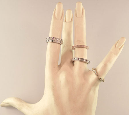 VICTORIAN NARROW BANDS - STERLING SILVER