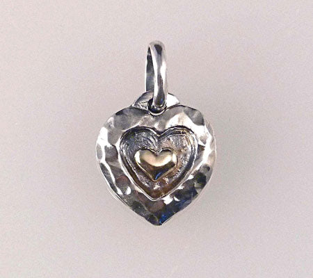 HAMMERED HEART CHARM