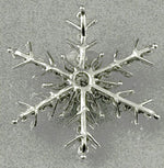 Commission: DIAMOND & PLATINUM SNOWFLAKE PENDANT