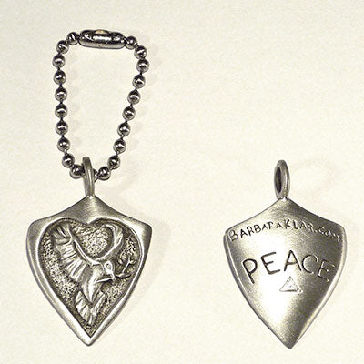 Peace-Dove-Keychain-Barbara-Klar-Clear-Metals
