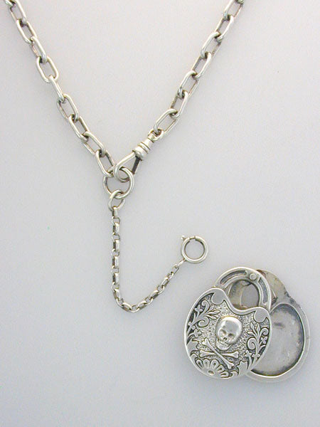 PIRATE SKULL LOCKETS AND NECKLACES