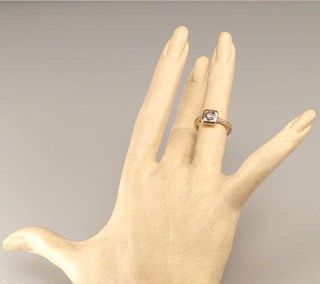 "CHAMPAGNE DIAMOND ""PLATFORM"" RING"