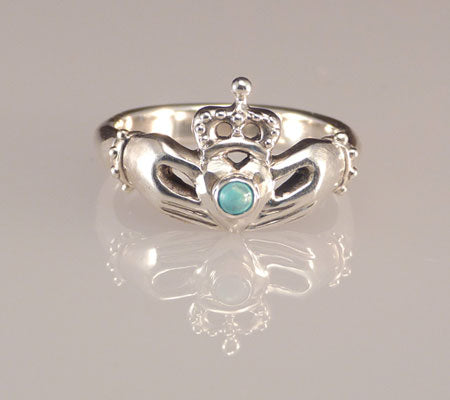 Claddagh-Ring-Silver-Turquoise-Commitment-Bands