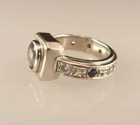 Gemstone-Platform-Ring-White-Sapphire-Side