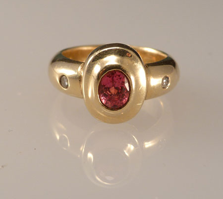 RUBY AND DIAMOND ENGAGMENT RING