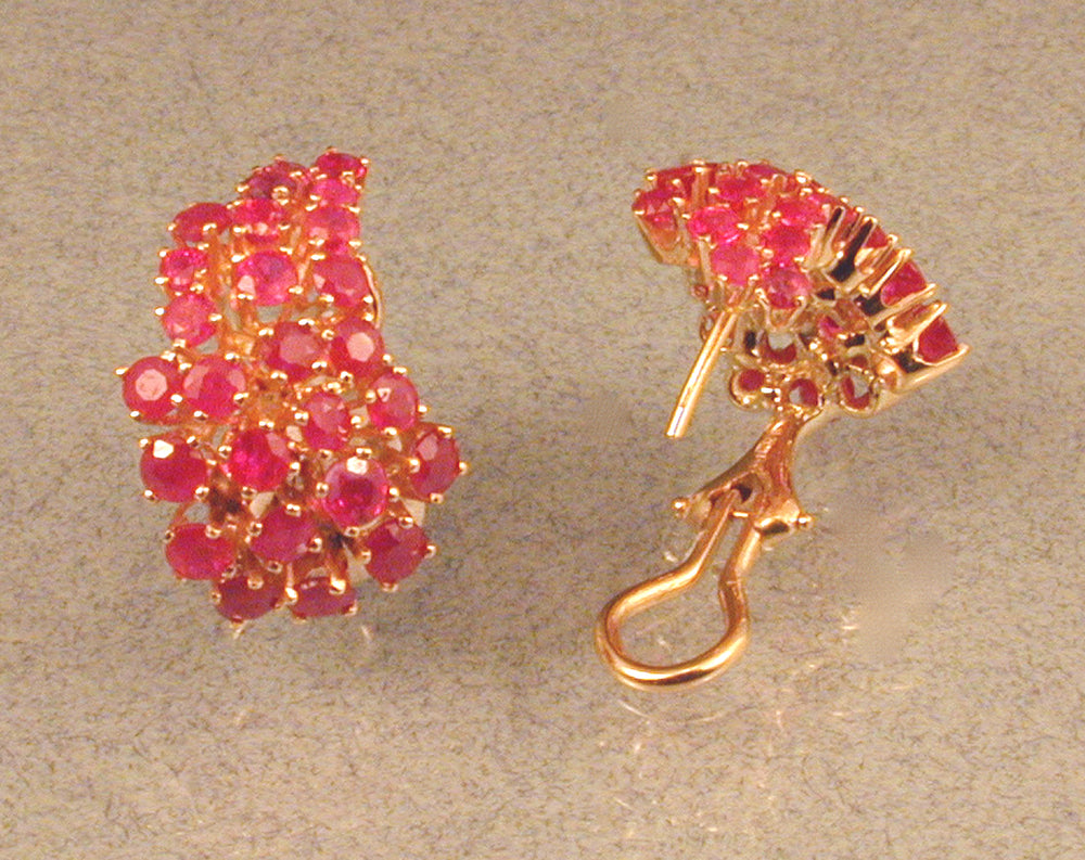 Commission: 14KY RUBY EARRINGS