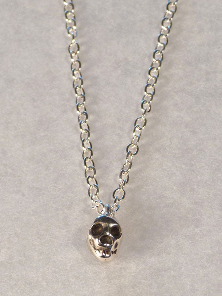 SKULL NECKLACE - STERLING SILVER
