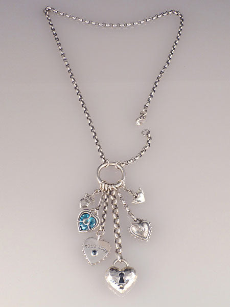 TRUE BLUE CHARM NECKLACE