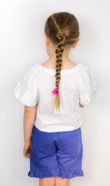 Pleated Blouse - White