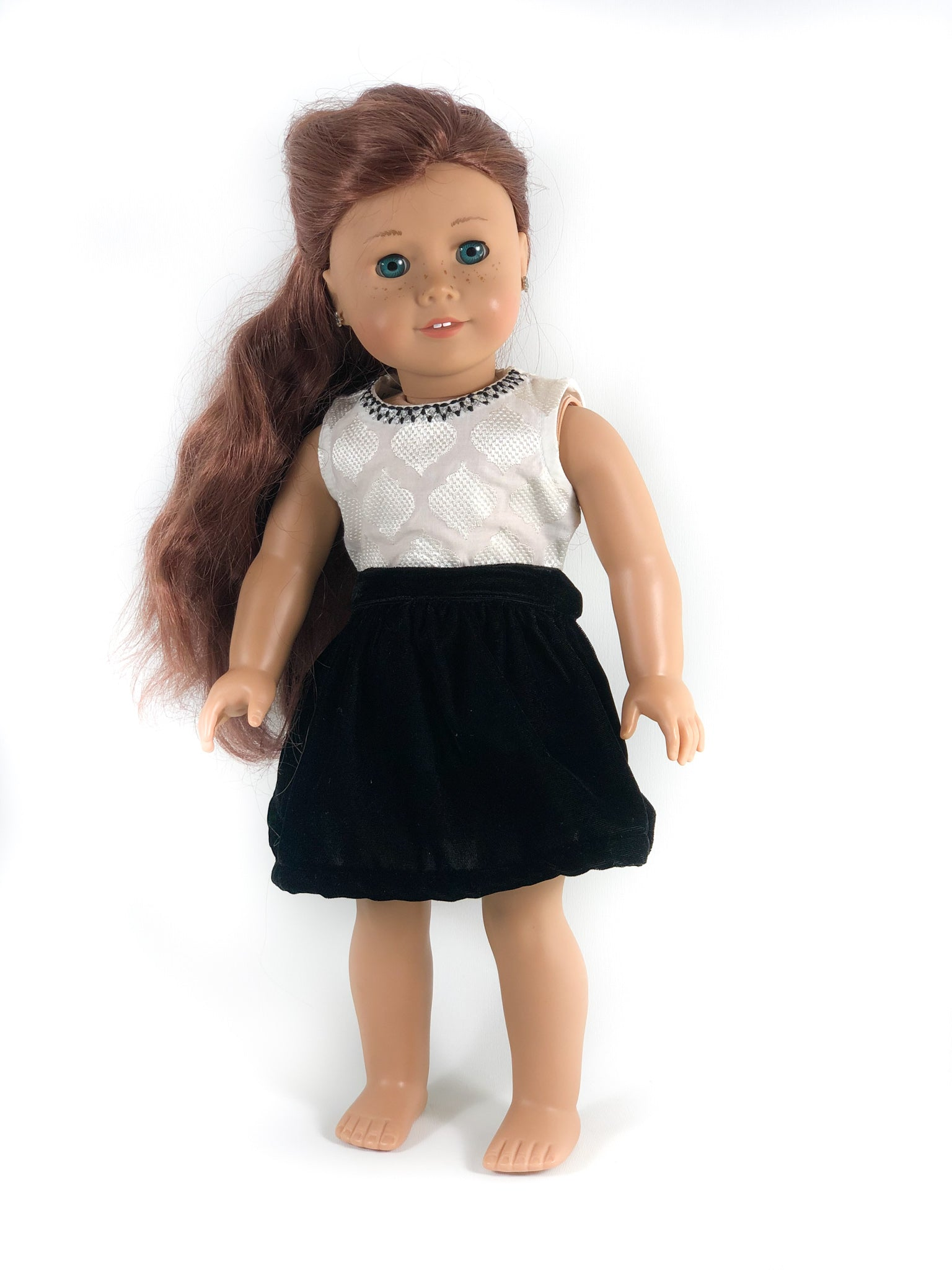 "The Anna Holiday Twirly Dress for 18"" Dolls 