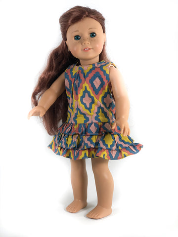 "Emiline Ruffle Dress for 18"" Dolls"