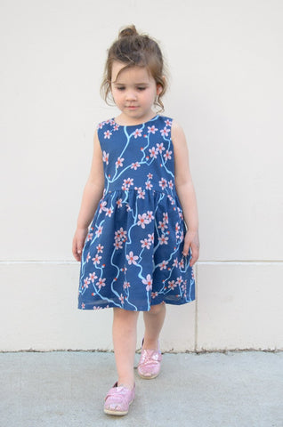 The Girls' Lawn Cotton Twirly Dress (Cherry Blossom)
