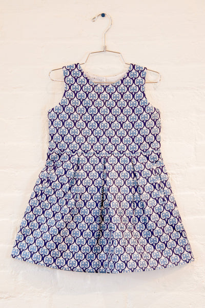 The Girls' Nadine Embroidered Box Pleated Twirly Dress