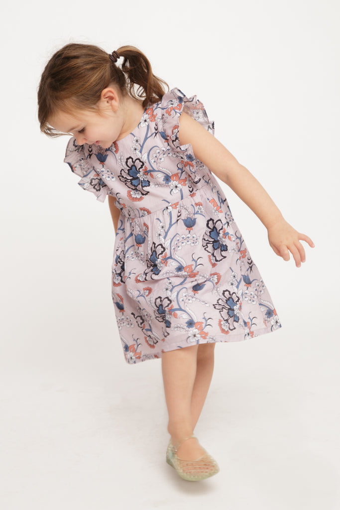 The Ruffle Pinafore Dress | Enchanted Garden Print
