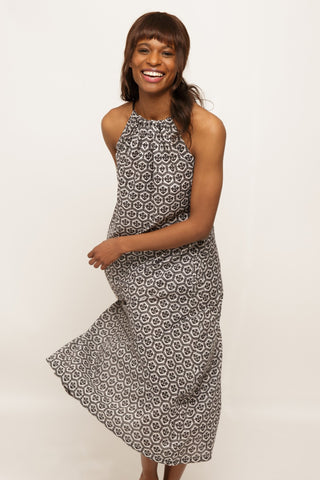 The Gathered Neck Flowy Dress