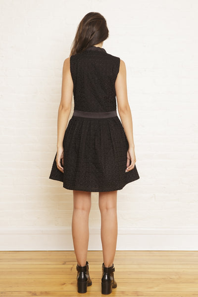 The Lilli Party Dress in Midnight Sequined Embroidery