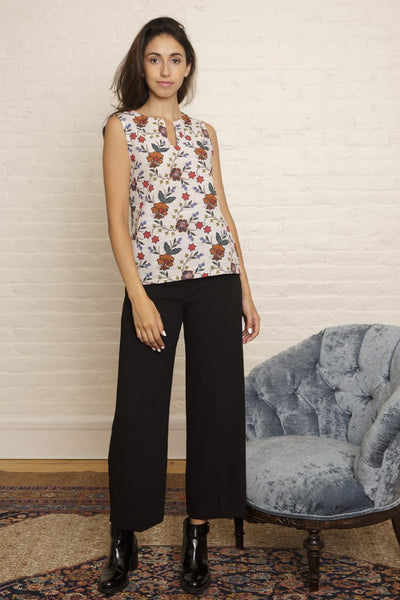Lina Top in Autumn Floral