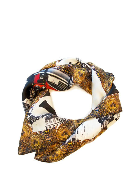 New York Silk Charmeuse Scarf