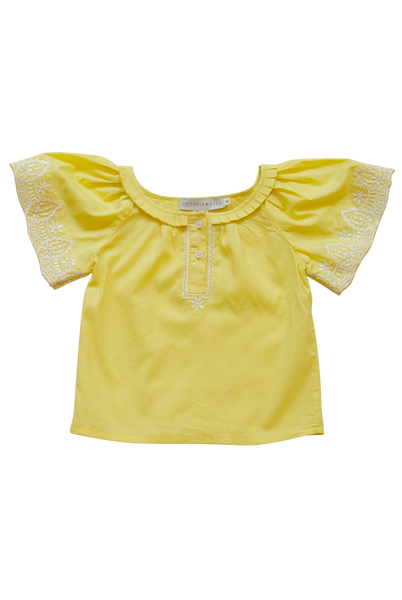 Pleated Blouse - Yellow
