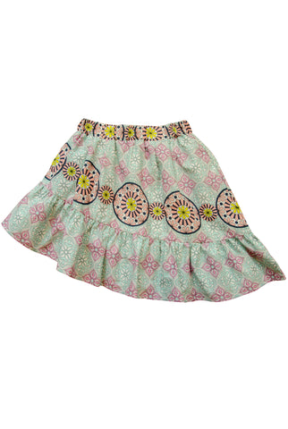 Skirt in Turquoise Whimsy