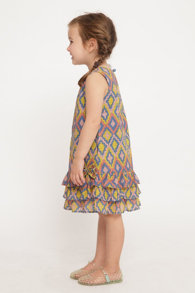 Emiline Ruffle Dress - Rainbow