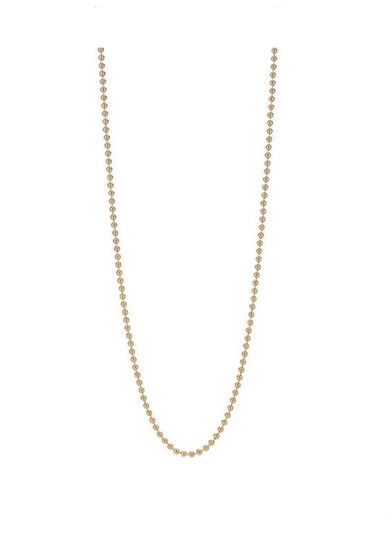 14K Vermeil Beaded Chain 18 Inches
