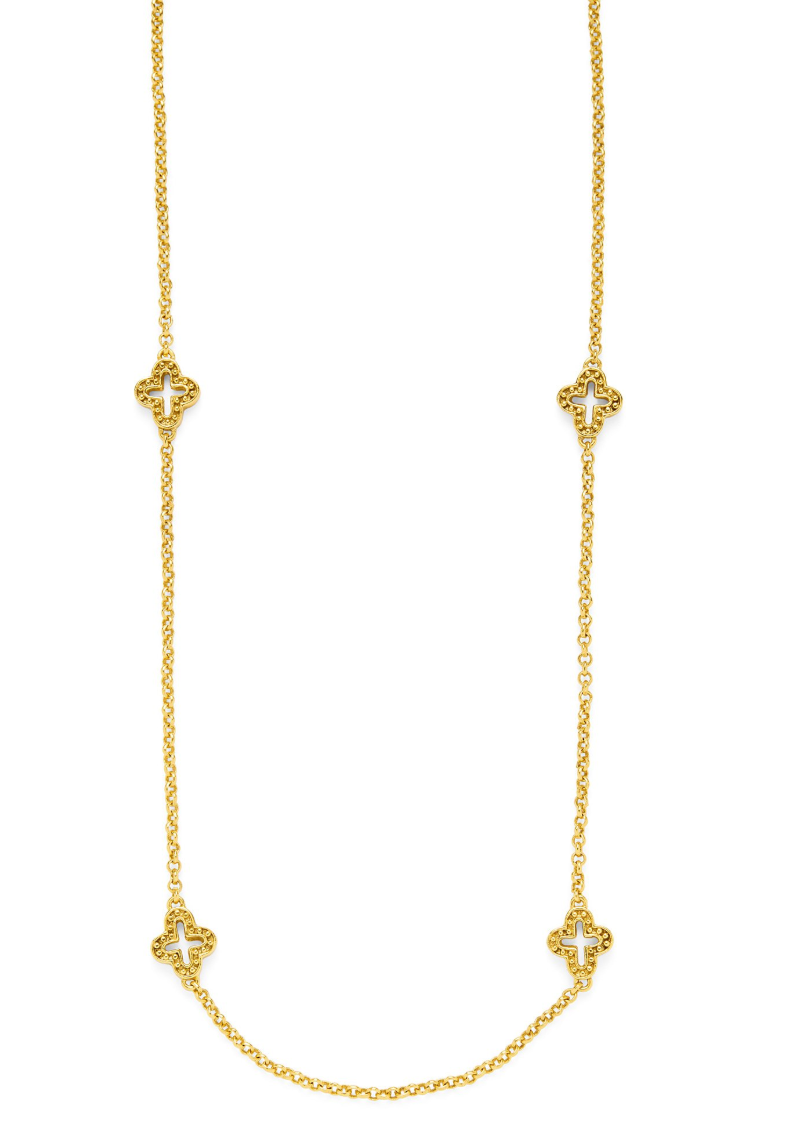 Florentine Station Necklace Gold 38 inches