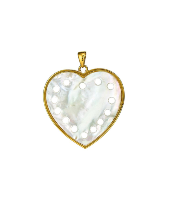 Petite Heart Pendant Mother of Pearl