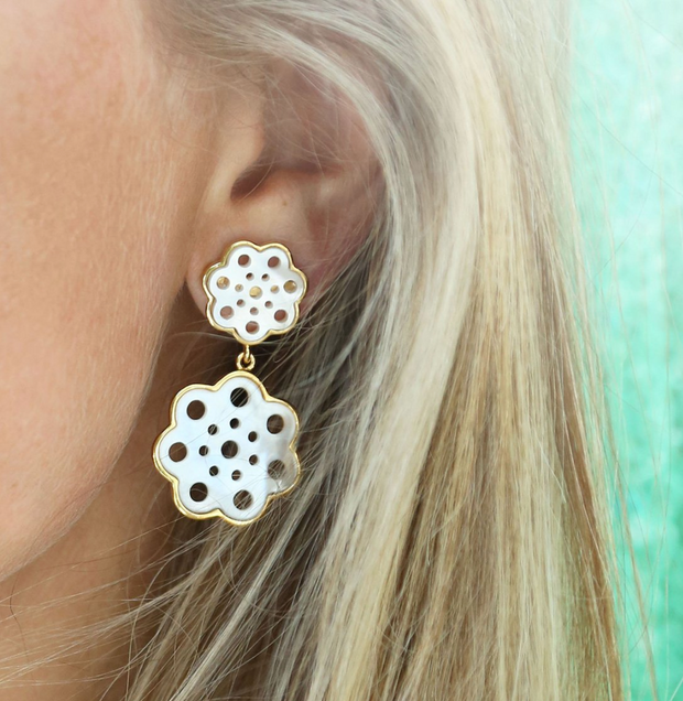 Gardenia Drop Earring
