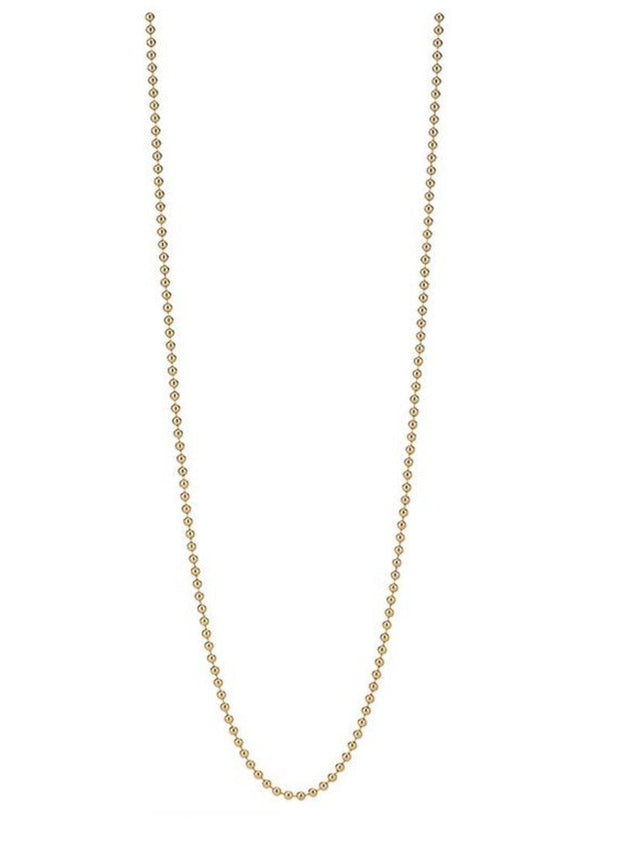 14K Vermeil Beaded Chain 30 Inches