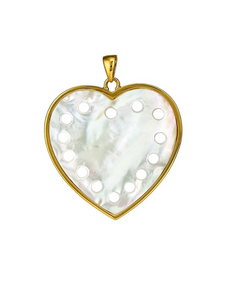 Heart Pendant Mother of Pearl