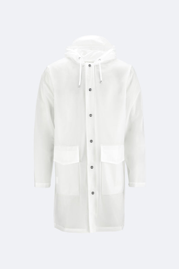 Foggy White Hooded Coat